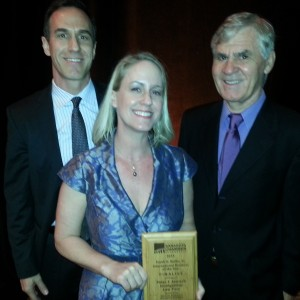 A photo of the attorneys of Jaensch Immigration Law Firm at the Small Business Awards