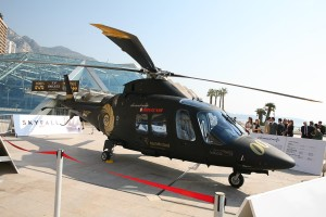Helicopter Used in latest James Bond Film on exhibition at Top Marques Monaco