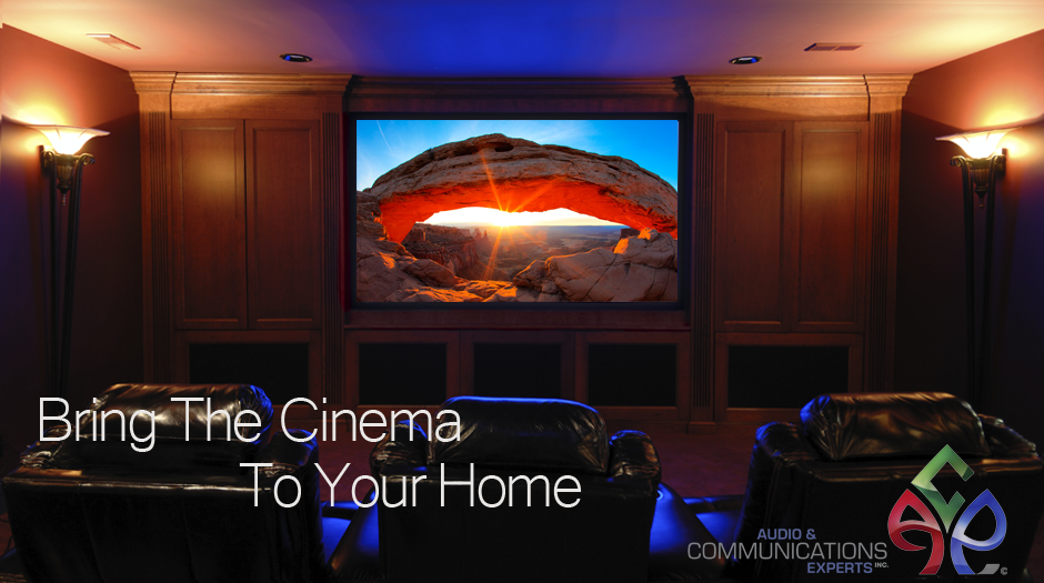 An example of a custom-built in-home theater